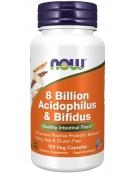 Now Foods 8 Billion Acidophilus & Bifidus 120 Veg Capsules
