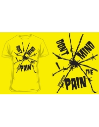 T-Shirt Scitec DON'T MIND PAIN - YELLOW
