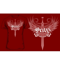 T-Shirt Scitec SWORD - RED