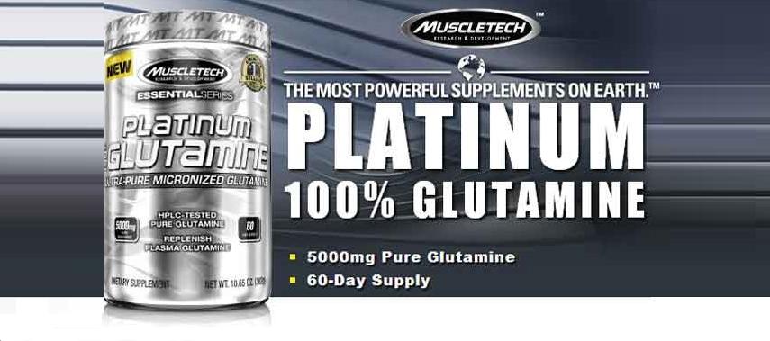 Muscletech Platinum 100 % Glutamine 302gr